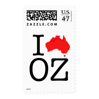 I Heart (Love) Oz Postage Stamp