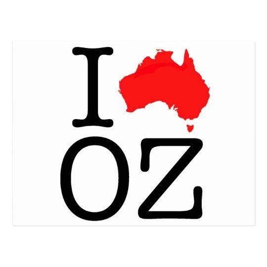 I Heart (Love) Oz Postcard