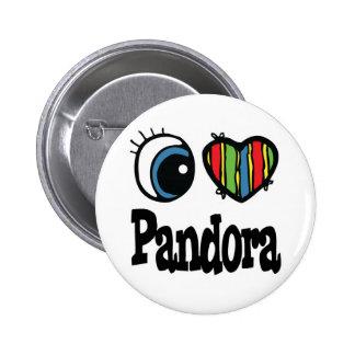 I Heart (Love) Pandora 2 Inch Round Button