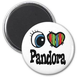 I Heart (Love) Pandora 2 Inch Round Magnet
