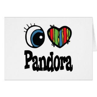 I Heart (Love) Pandora Greeting Card