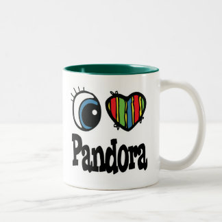 I Heart (Love) Pandora Two-Tone Coffee Mug