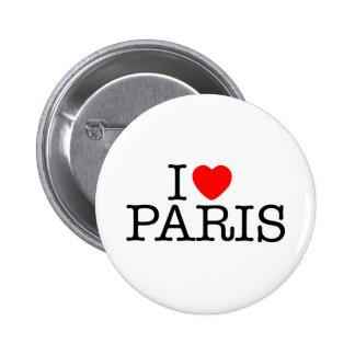 I heart (love) Paris Button