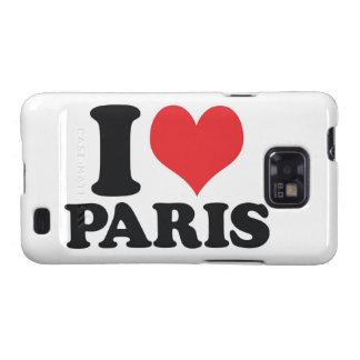 I Heart love Paris Galaxy SII Cases