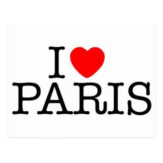 I heart love Paris Post Card