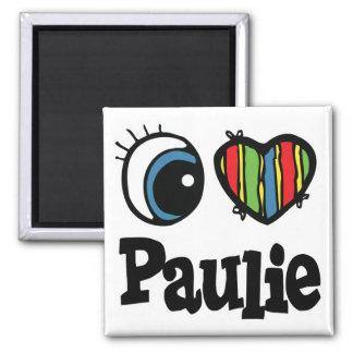 I Heart (Love) Paulie Fridge Magnet