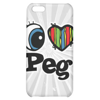 I Heart (Love) Peg iPhone 5C Cases