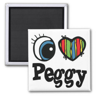 I Heart (Love) Peggy Magnet