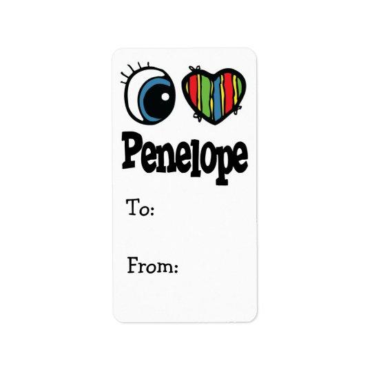 I Heart (Love) Penelope Label
