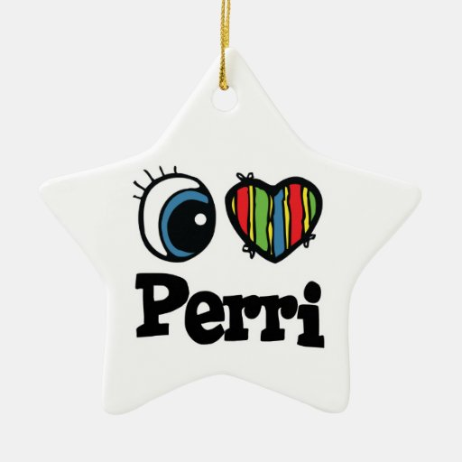 I Heart (Love) Perri Christmas Tree Ornament