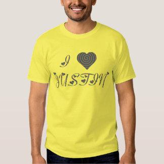 i heart/love [ personalizable ] 80's retro rainbow tee shirt