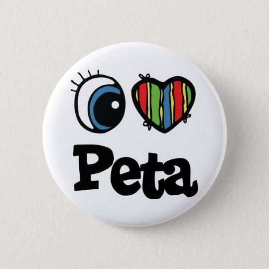 I Heart (Love) Peta Button