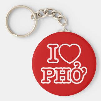 I Heart (Love) Pho Basic Round Button Keychain