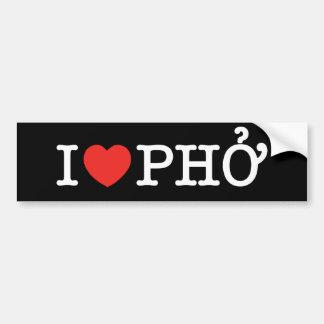 I Heart (Love) Pho Bumper Sticker