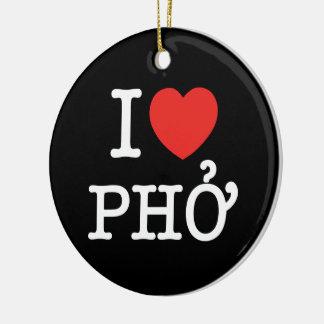 I Heart (Love) Pho Ceramic Ornament