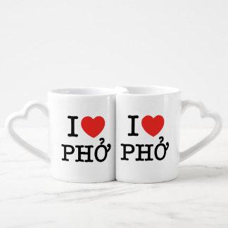 I Heart (Love) Pho Coffee Mug Set