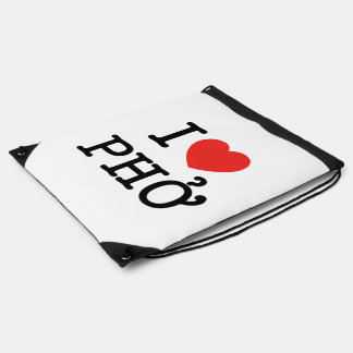 I Heart (Love) Pho Drawstring Backpack