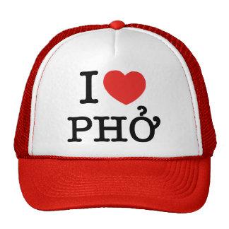 I Heart (Love) Pho Mesh Hats
