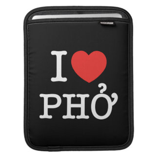 I Heart (Love) Pho iPad Sleeve