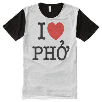 I Heart (Love) Pho All-Over Print T-shirt
