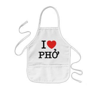 I Heart (Love) Pho Kids' Apron