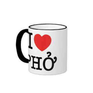 I Heart (Love) Pho Coffee Mugs