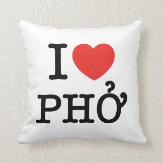 I Heart (Love) Pho Throw Pillows