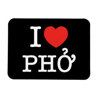 I Heart (Love) Pho Rectangular Photo Magnet