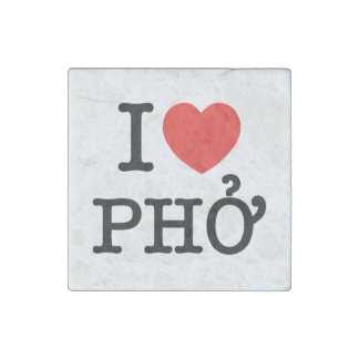 I Heart (Love) Pho Stone Magnet
