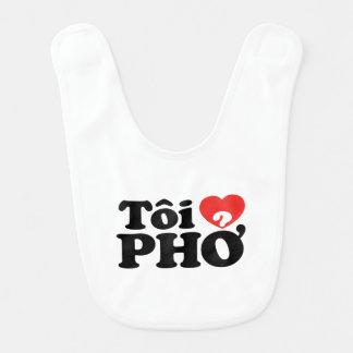 I Heart (Love) Pho (Tôi ❤ PHỞ) Vietnamese Language Bib