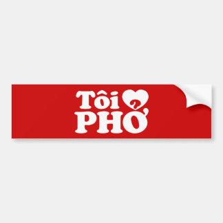 I Heart (Love) Pho (Tôi ❤ PHỞ) Vietnamese Language Bumper Sticker
