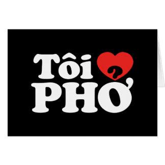 I Heart (Love) Pho (Tôi ❤ PHỞ) Vietnamese Language Greeting Card