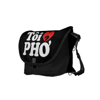 I Heart (Love) Pho (Tôi ❤ PHỞ) Vietnamese Language Courier Bag