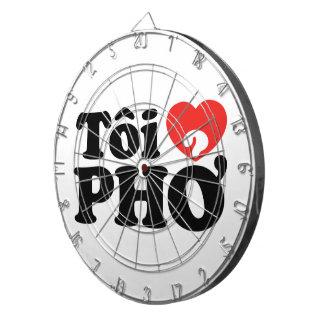 I Heart (Love) Pho (Tôi ❤ PHỞ) Vietnamese Language Dartboard With Darts