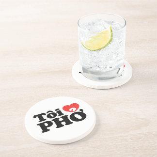 I Heart (Love) Pho (Tôi ❤ PHỞ) Vietnamese Language Drink Coaster