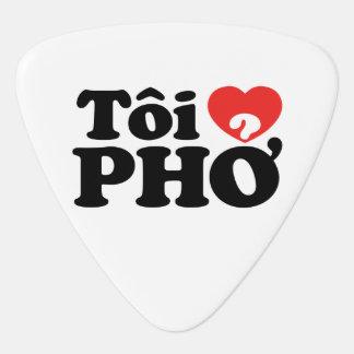 I Heart (Love) Pho (Tôi ❤ PHỞ) Vietnamese Language Guitar Pick