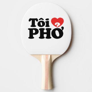 I Heart (Love) Pho (Tôi ❤ PHỞ) Vietnamese Language Ping-Pong Paddle