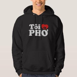 I Heart (Love) Pho (Tôi ❤ PHỞ) Vietnamese Language Hoodie