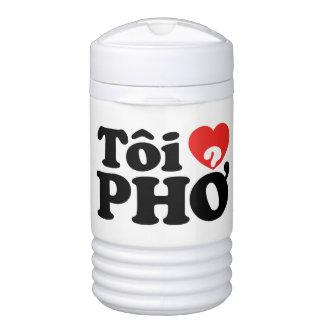 I Heart (Love) Pho (Tôi ❤ PHỞ) Vietnamese Language Igloo Beverage Dispenser