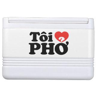 I Heart (Love) Pho (Tôi ❤ PHỞ) Vietnamese Language Igloo Can Cooler