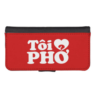 I Heart (Love) Pho (Tôi ❤ PHỞ) Vietnamese Language iPhone SE/5/5s Wallet