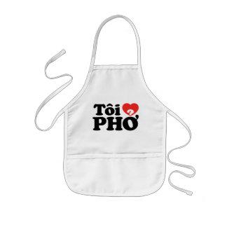 I Heart (Love) Pho (Tôi ❤ PHỞ) Vietnamese Language Kids' Apron