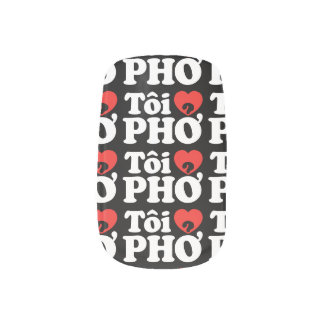 I Heart (Love) Pho (Tôi ❤ PHỞ) Vietnamese Language Minx ® Nail Art