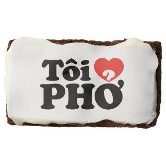 I Heart (Love) Pho (Tôi ❤ PHỞ) Vietnamese Language Rectangular Brownie