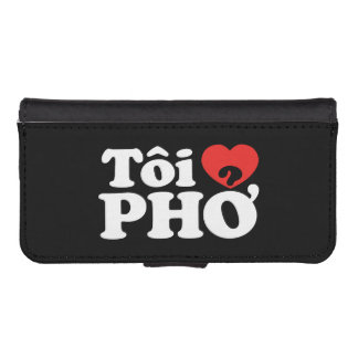 I Heart (Love) Pho (Tôi ❤ PHỞ) Vietnamese Language Phone Wallets