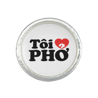 I Heart (Love) Pho (Tôi ❤ PHỞ) Vietnamese Language Ring