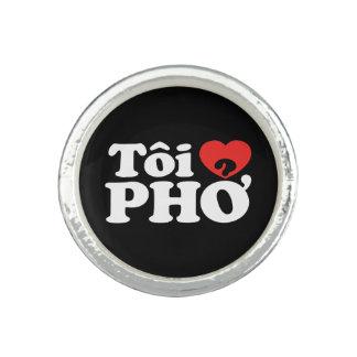 I Heart (Love) Pho (Tôi ❤ PHỞ) Vietnamese Language Photo Rings