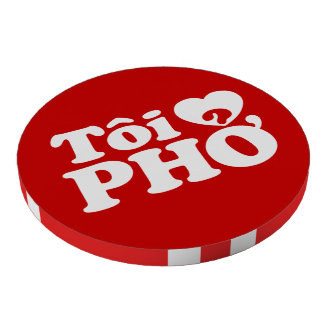 I Heart Love Pho Tôi ❤ PHỞ Vietnamese Language Set Of Poker Chips