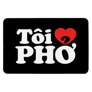 I Heart (Love) Pho (Tôi ❤ PHỞ) Vietnamese Language Rectangular Photo Magnet