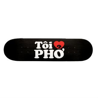 I Heart (Love) Pho (Tôi ❤ PHỞ) Vietnamese Language Skateboard